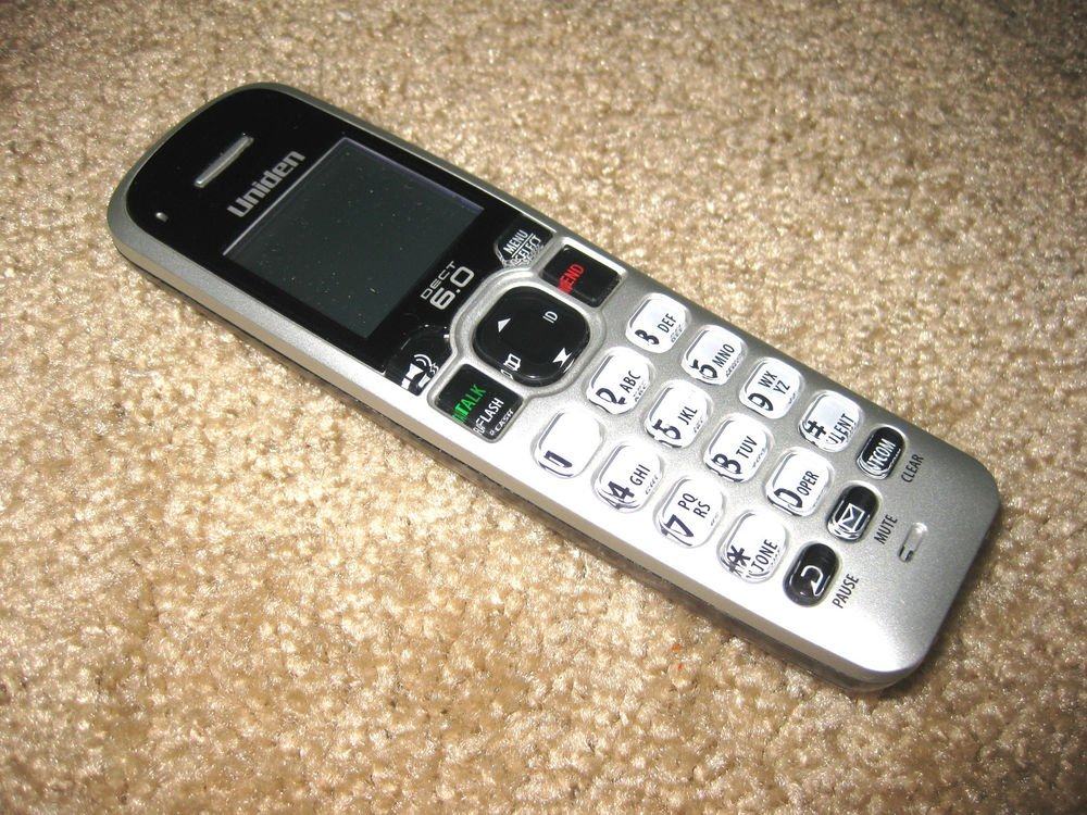 Uniden D1660 2 HANDSET 6.0 GHz DECT cordless expansion tele phone remote phone