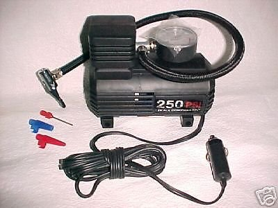 standard valve bike or car 12volt electric TIRE air PUMP w/guage - New