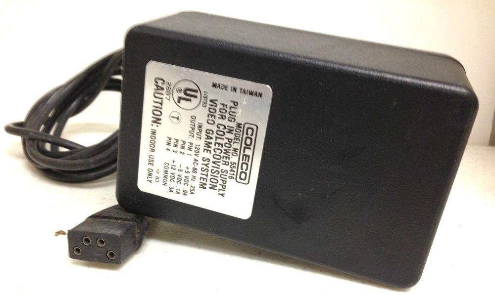 genuine original 12v 5v power supply COLECO VISION 55416 cable plug electric VDC