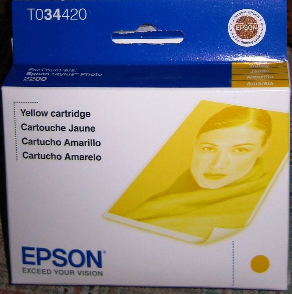Epson T034420 yellow ink jet C13T034420 GENUINE - stylus photo printer 2200 2100
