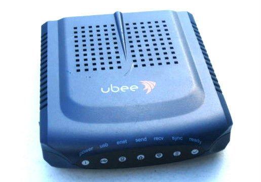 ubee U10C018 cable modem ethernet USB PC Mac internet enet coaxial cord computer