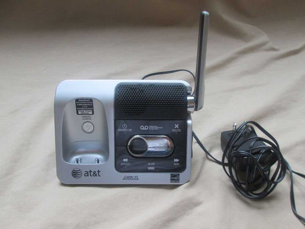 AT&T CRL82212 main base w/P - cordless phone charger cradle stand charging 6.0