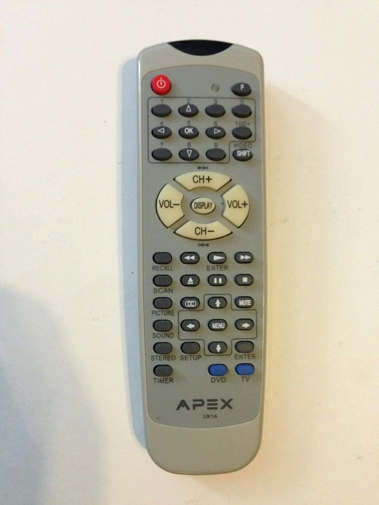 APEX REMOTE CONTROL UK1A - GT2015 GT2415 GT3215 GT2715 8201801310L TV stereo DVD