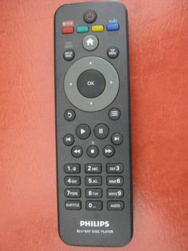 PHILIPS netflix REMOTE CONTROL = BDP2100 BDP2105 BDP2180 BDP2185 Blu Ray Player