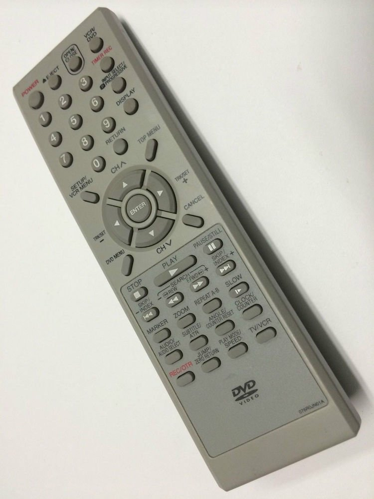 076R0JN01A remote control = DVD VCR video Broksonic Orion Sansui Memorex Emerson