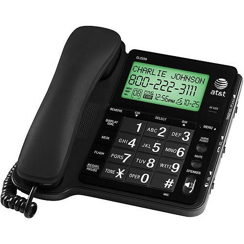 BIG number button AT T CL2939 telephone speaker phone large tilt LCD screen att