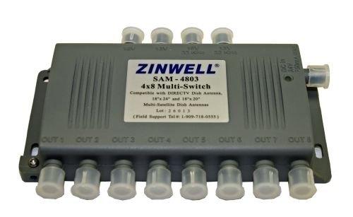Zinwell sam 4803 plug 4 in 8 out Multi Switch antenna sam4803 satellite direc tv