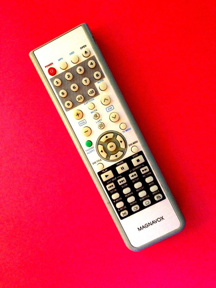MAGNAVOX MDVD01 model remote control - MPX OSD TV DVD AUX PC caption mute open