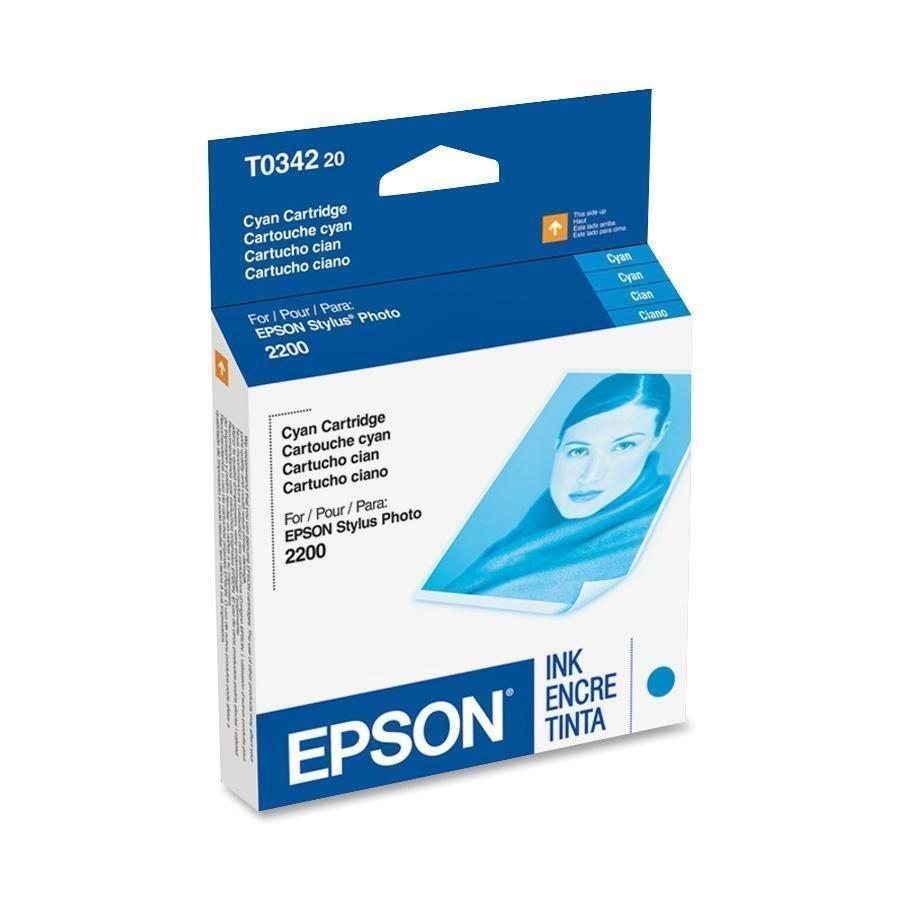 Epson T034220 blue ink jet C13T034220 GENUINE - stylus photo printer 2200 2100