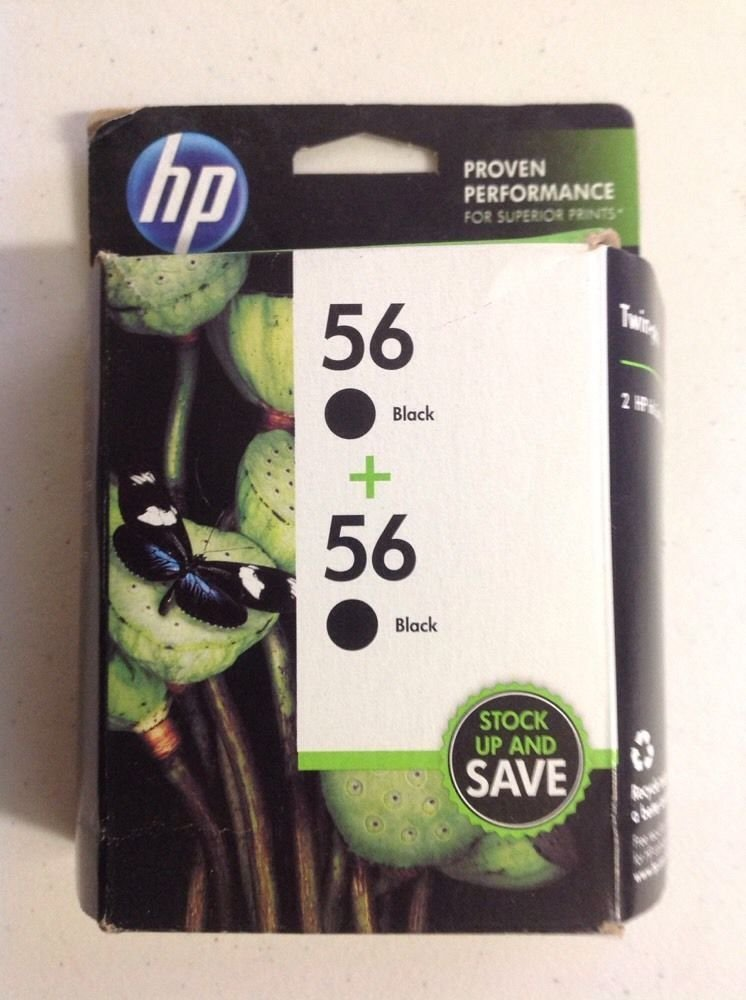 56 twin pack BLACK ink jet HP DeskJet 9680 9670 9650 5850 5650 5550 5150 printer
