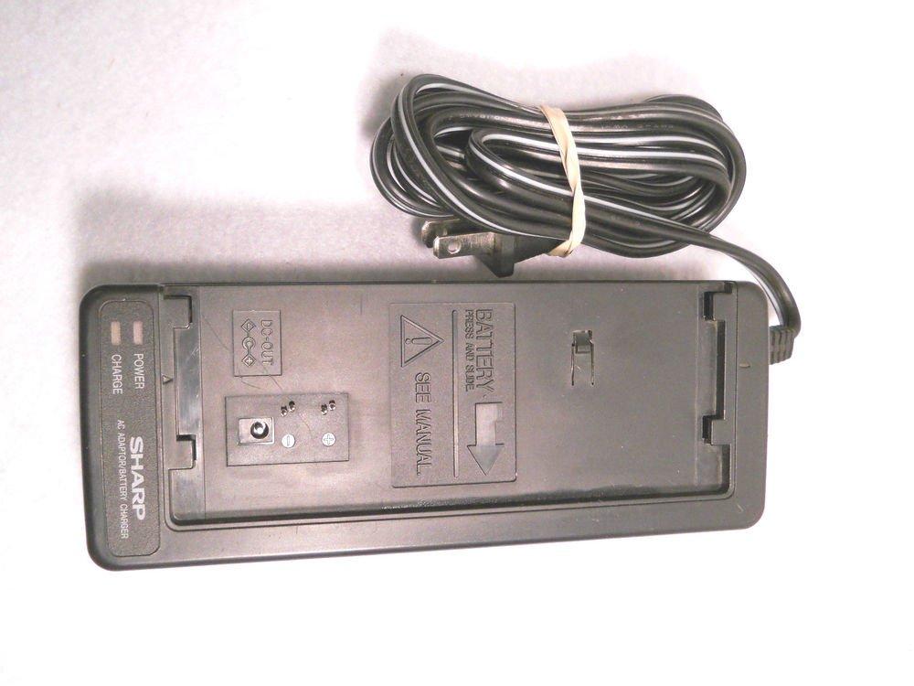 BATTERY CHARGER Sharp UADP 0150GEZZ slim cam corder VL L62U ac dc power adapter