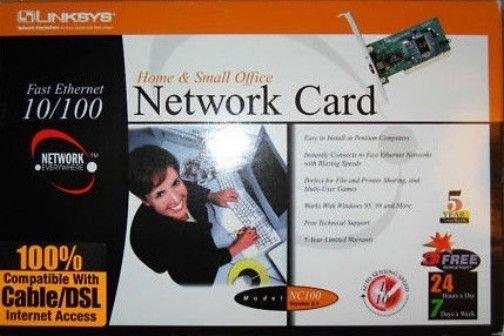 CAT 5 internal ethernet NETWORK CARD windows 98 NT 2000 switch internet computer