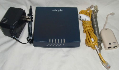 NETOPIA 3341 modem DSL ETHERNET ROUTER USB w/extras