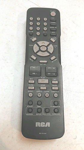RCA RCR 192 AA4 Remote Control - RTD315W RTD316W DVD HDMI tuner disc subwoofer