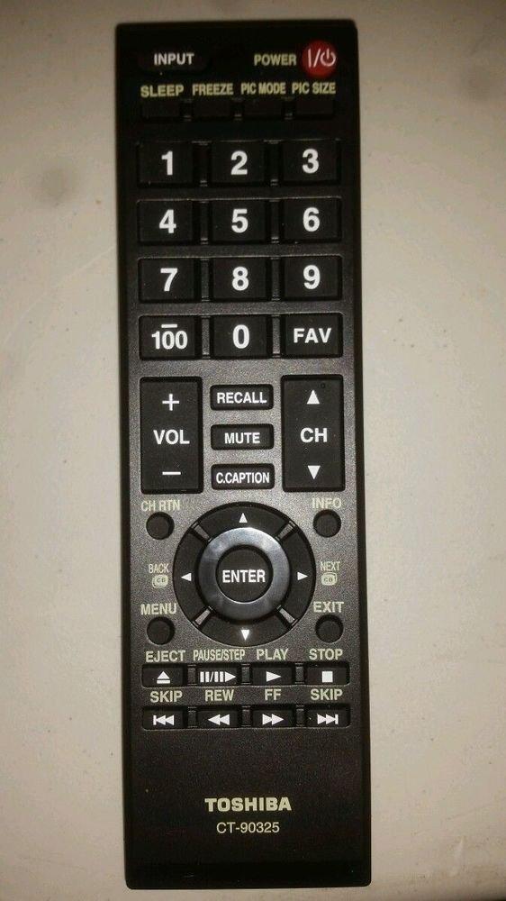 TOSHIBA CT 90325 Remote Control - 32C100U2 32C100UM 32C110 32DT1 U 32E20 U 40FT1