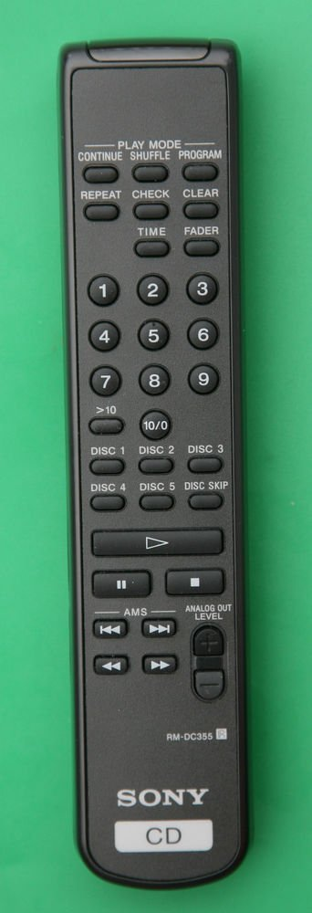 SONY RM DC355 REMOTE CONTROL CD player CDP C5CS C5CSB CE245 CE275 CE345 CE375