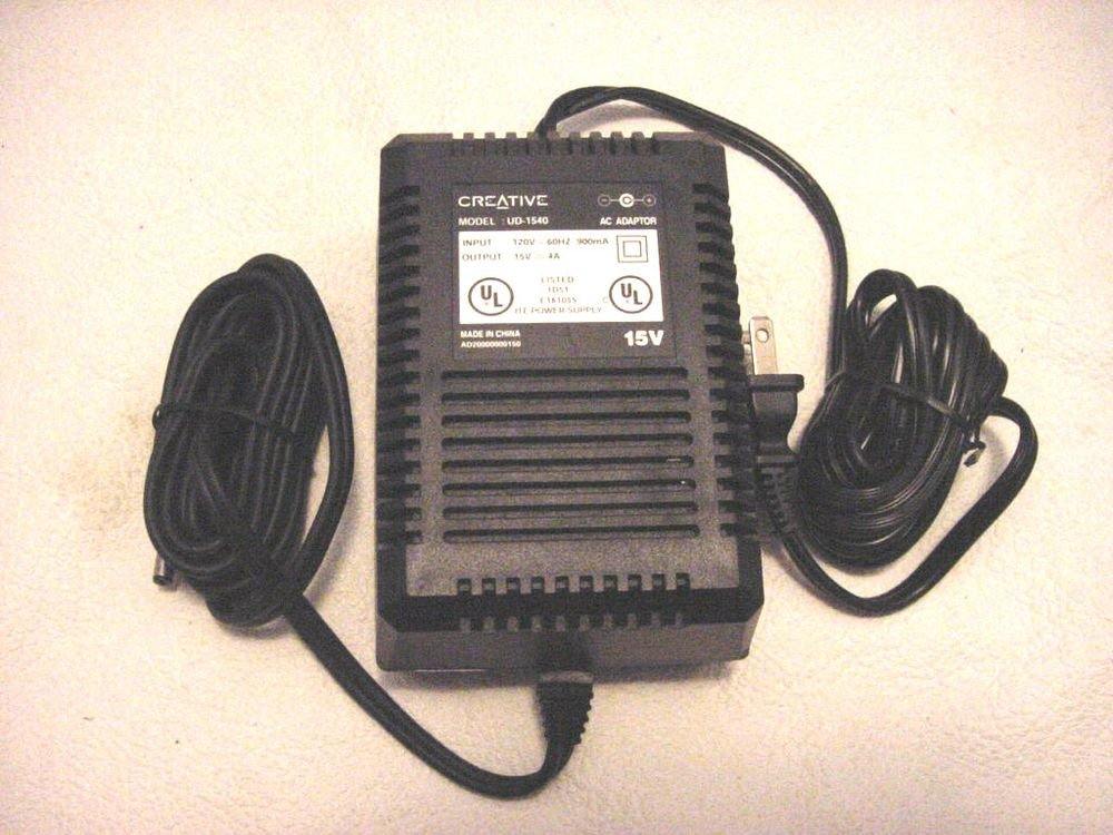 15v 4A Cambridge Soundworks Creative UD1540 ADAPTER cord = Inspire speaker power