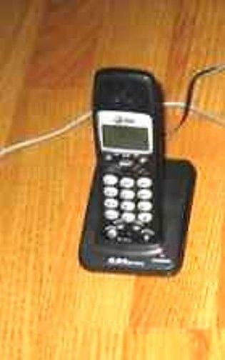 AT&T E5643B handset & remote base w/PSU cordless ATT tele phone charger charging