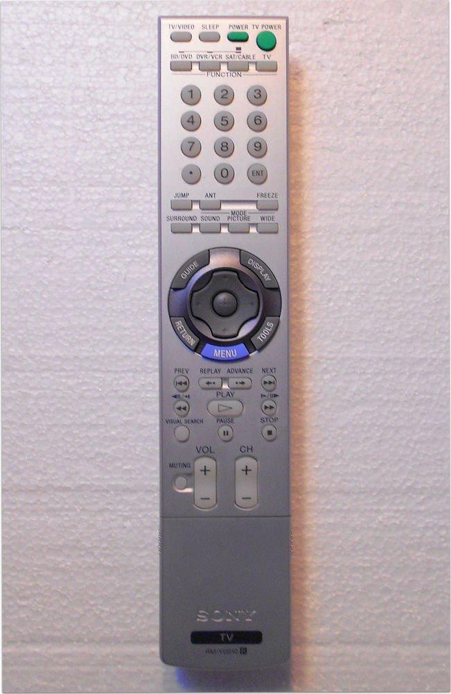SONY Remote Control RM YD010 - KFD 42E2000 46E2000 50E2000 55E2000 KDL 52XBR3