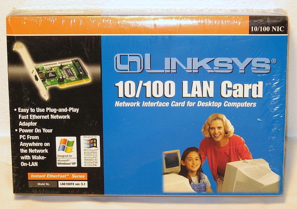 Windows XP LINKSYS LNE100TX broadband EtherFast 10/100 NIC LAN PCI internal Card