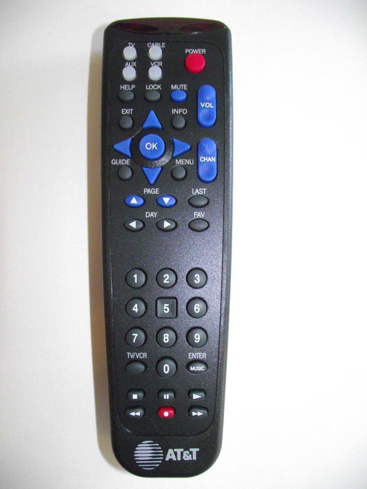 AT&T REMOTE CONTROL UA164 - 200C TV VCR cable box receiver att console unit