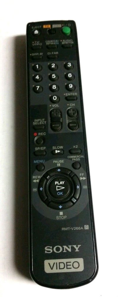 Sony RMT V266A remote control - SLV 669HF SLV AX10 SLV N50 VHS VCR TV video