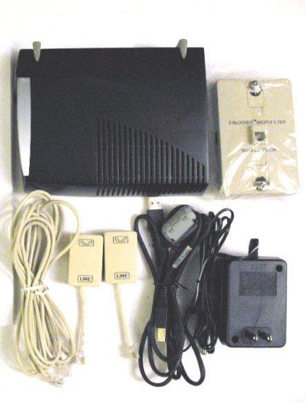 Speed Stream 4060 modem ADSL USB ethernet DSL w/EXTRAS EFFICIENT NETWORKS