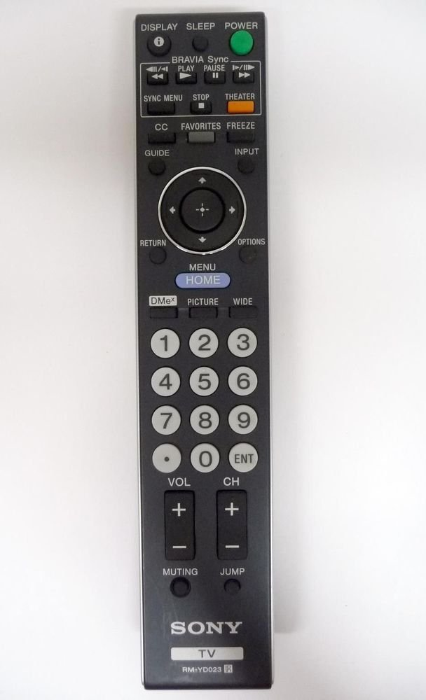 Sony RM YD023 remote control - KDL 32VL140 32XBR6 37XBR6 40V4100 46W4150 52W4100