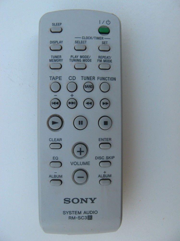 Sony RM SC3 remote control - HCD RG33 HCD RG110 HCD RG220 HCD RG11 tuner cd tape