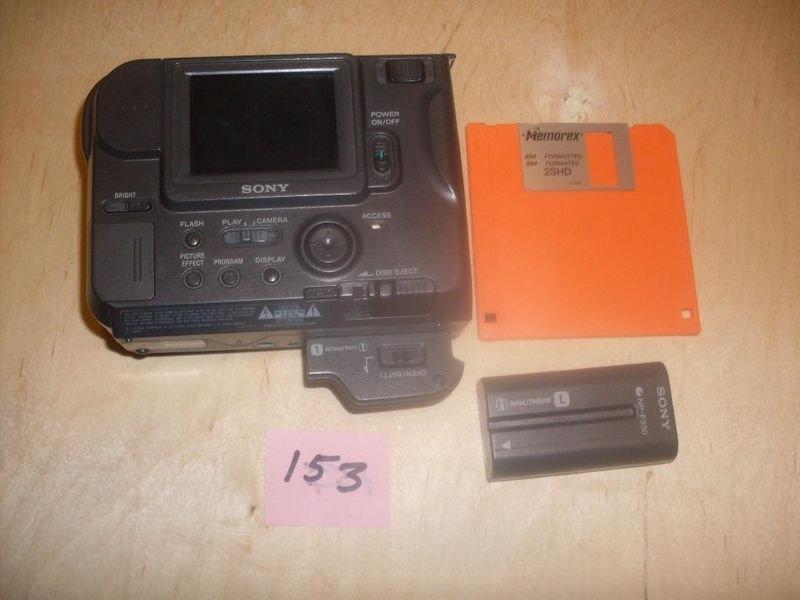 """Sony MVC FD75 floppy disk 3.5"""" Digital Mavica Camera w/EXTRAS"""