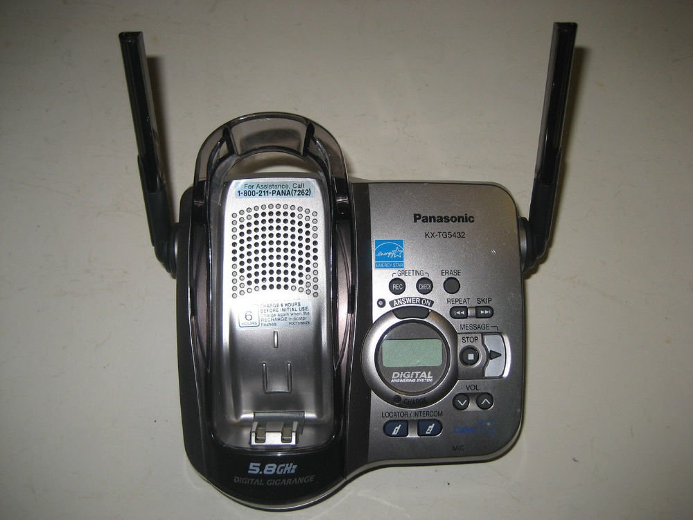 KX TG5432 M PANASONIC main charge base - cordless tele phone TGA542 charging ac