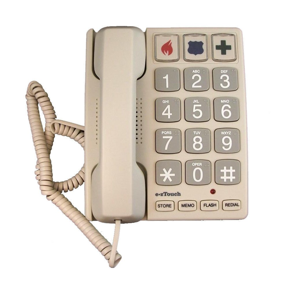 big number button Cortelco ez TOUCH 2400 telephone phone large Braille eztouch