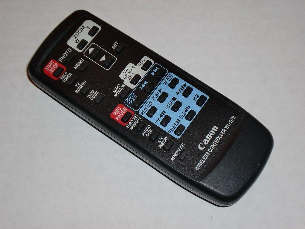 Canon Remote Control model WL D73 = camcorder ZR70MC MV650i MV630i ZR65 camera