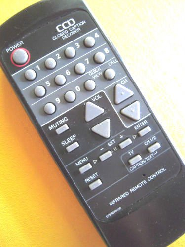 REMOTE CONTROL - CCD closed caption decoder TV text mute sleep quickwiew