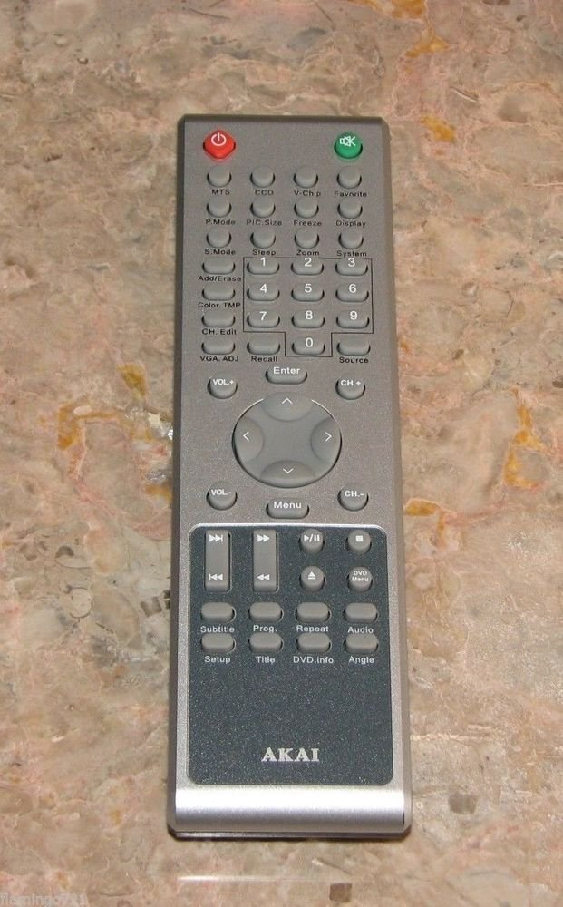 AKAI E7501 060001 LCD TV DVD MTS REMOTE CONTROL LCT 2701TD LCT 2701AD LCT 3201AD