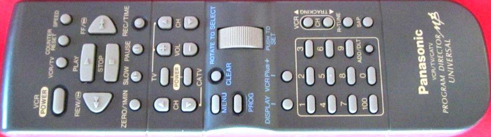 PANASONIC Program Director MB VSQS1411 REMOTE CONTROL - VCR PV 4562 4561 4564
