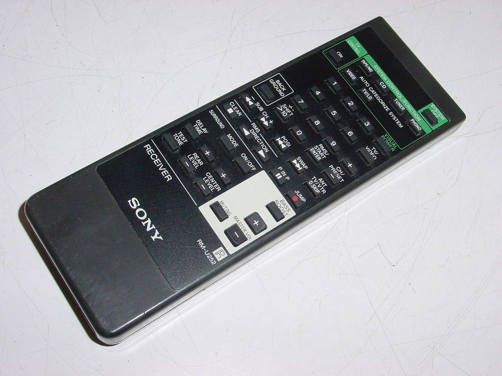 SONY RM U252 REMOTE CONTROL STRD565 STRD600 STR665 STRD800SS tv video receiver