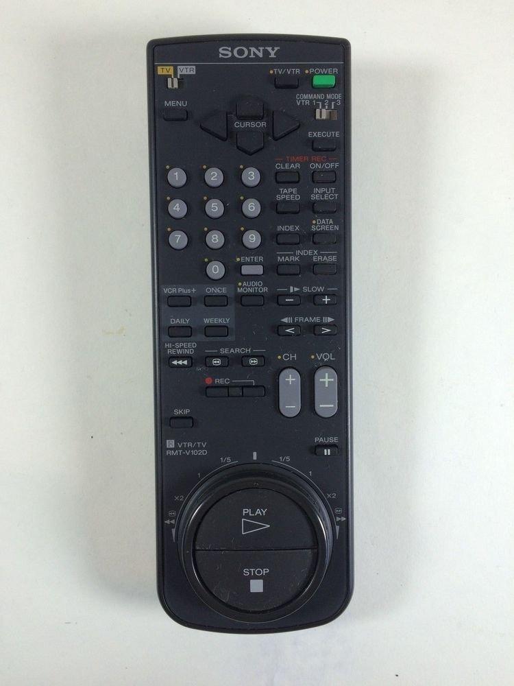 Sony RMT V102D remote control - SLV 71HF SLV 585HF SLV 589HF SLV 686HF TV VTR