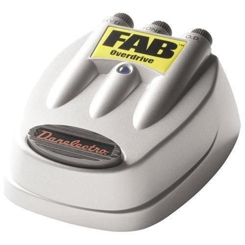 DANO Danelectro FAB OVERDRIVE guitar stomp effects pedal metal foot switch