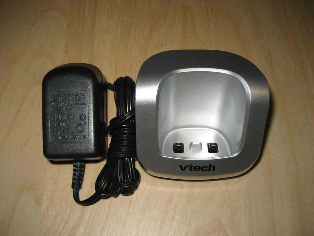vTech DS6121 REMOTE CHARGER BASE w/PSU - cordless phone handset ac dc charging