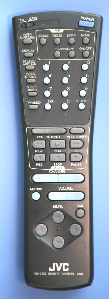 JVC remote control RM C755 - AV 27950 32950 32950A 35955 36950 TZV CATV VCR unit