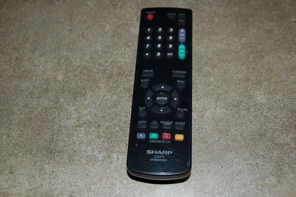 SHARP 076B0MQ051 Remote Control = LCD TV LC 26SB24U 26SB14U 22SB24U 19SB27UT