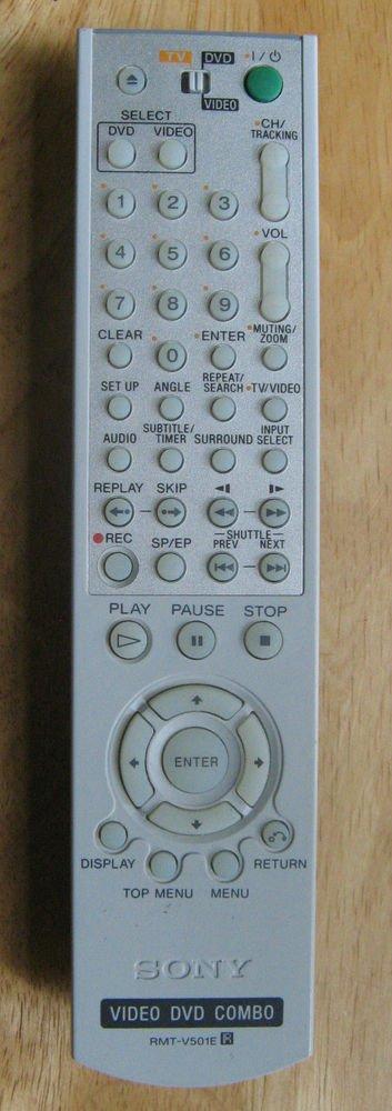 SONY RMT V501E R  REMOTE CONTROL DVD TV VIDEO SLV D261P D271P D281P D360P D370P