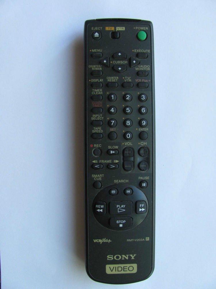 REMOTE CONTROLLER SONY RMT-V203A tv SLV 495 685HF 675HF 676HF VCR Plus 147503221