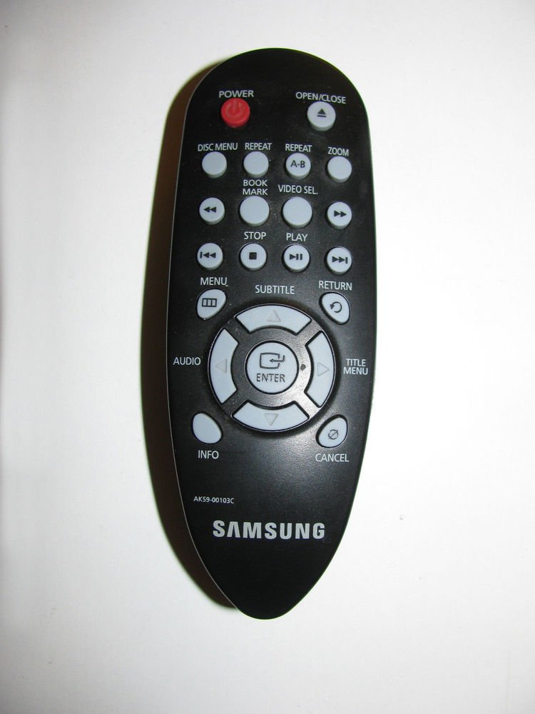Genuine original SAMSUNG AK59 00103C remote control commander DVD disc player
