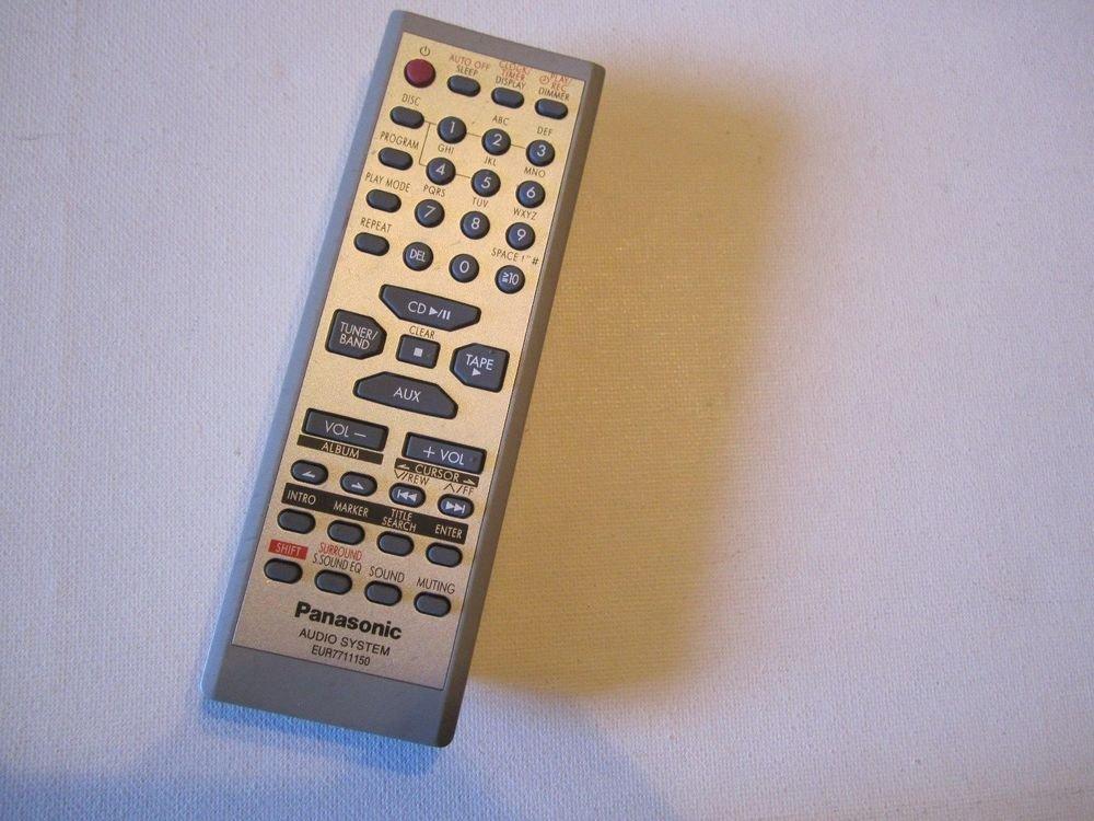 Panasonic EUR7711150 Audio System REMOTE CONTROL SAPM19 SAPM193P SAPM19P SCPM19K