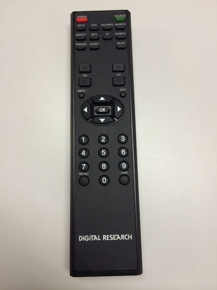 Digital Research ZR760 Remote Control - LCD TV D LCD26 D LCD32 D LCD42 P HDTV