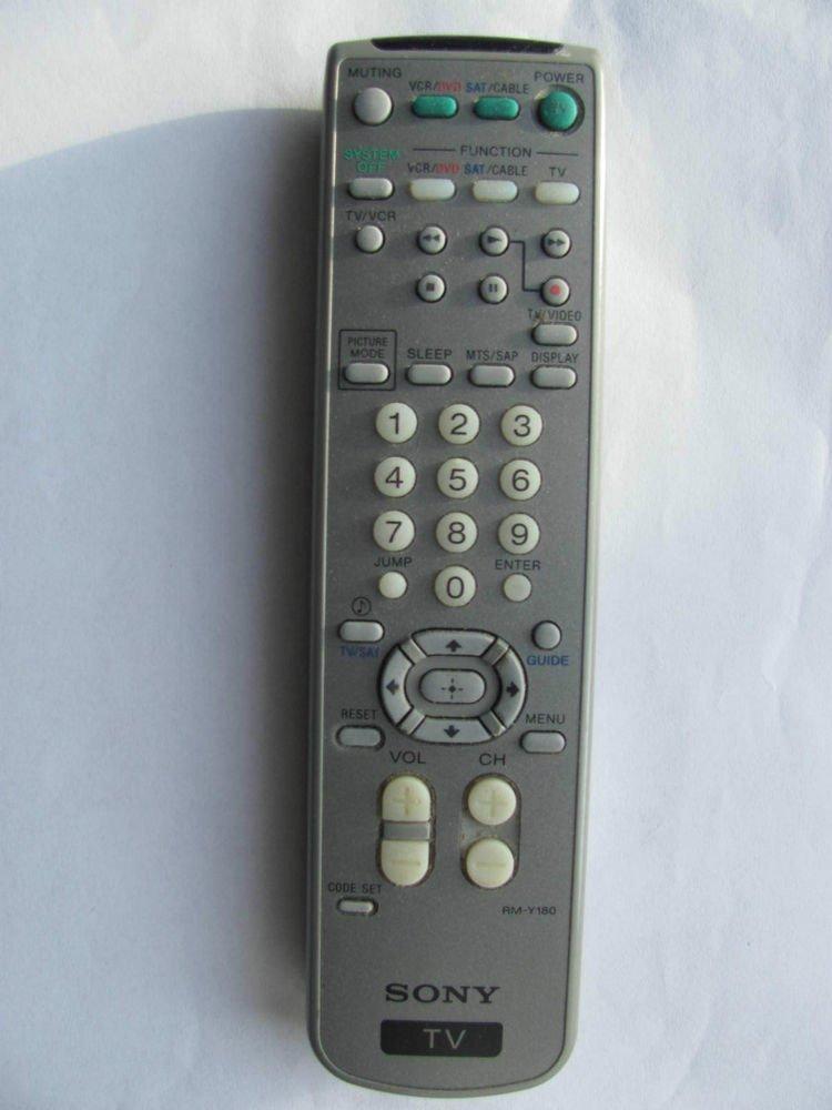 SONY RM Y180 REMOTE CONTROL HDTV KV36FS100 KV27FS100 KV32FS13 KV32FS100 RMY901K