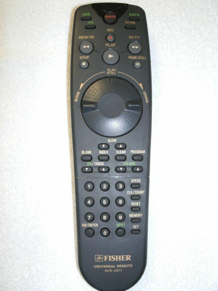 Fisher RVR 4911 Remote Control - FVH4511 FVH4911 RVR4911 6450038891 VCR CATV TV
