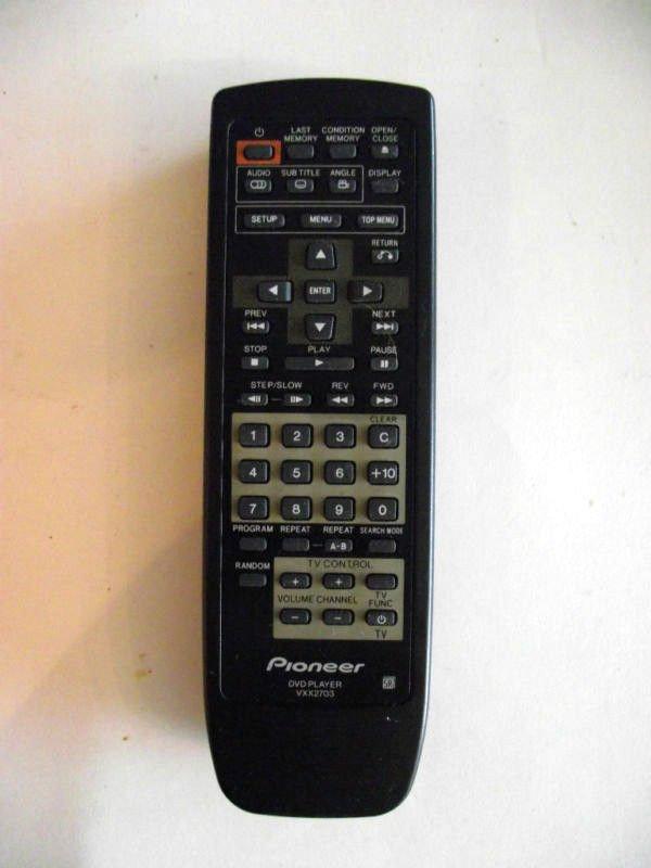 Pioneer REMOTE CONTROL VXX2703 - DV353 DV434 DV444 HTS910DV dvd player wireless